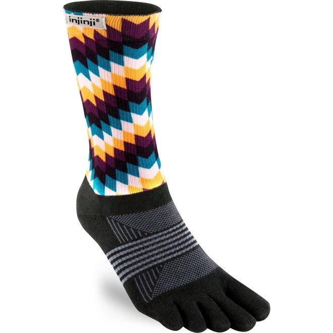 Injinji Trail Midweight Crew Coolmax Toe Socks Feathers Ladies