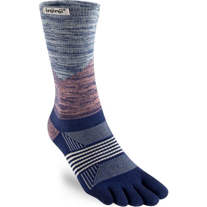 Injinji Trail Midweight Crew Coolmax Toe Socks Rose / River Ladies