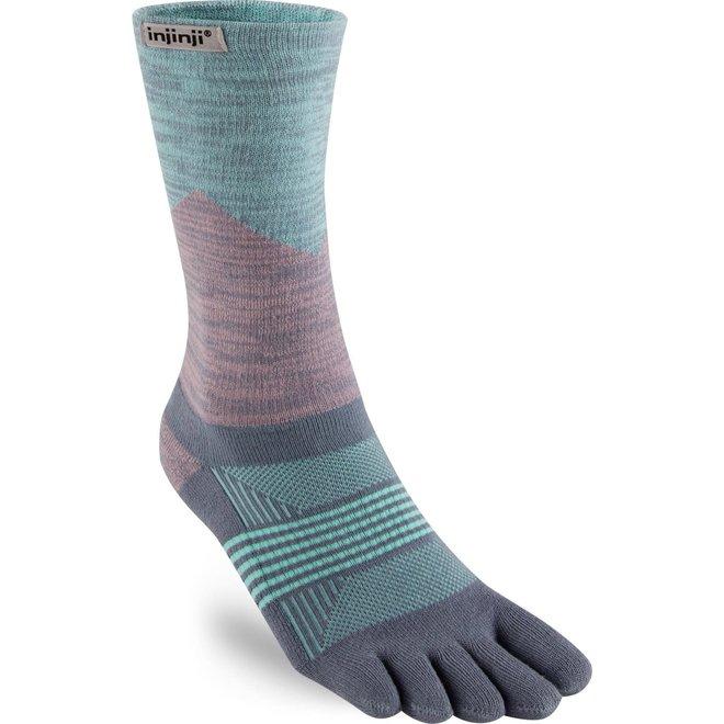 Injinji Trail Midweight Crew Coolmax Toe Socks Quartz Ladies