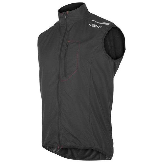 Fusion S1 Run Vest Men Black Running Vest Water repellent