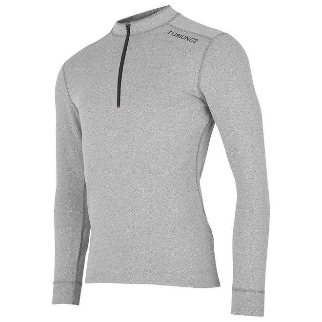 Fusion C3 Zip Neck Hardloopshirt Heren Grijs met rits