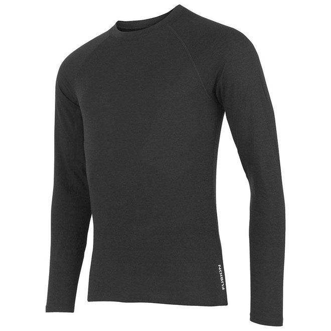 Fusion C3 Merino Longsleeve Hardloopshirt Zwart Heren