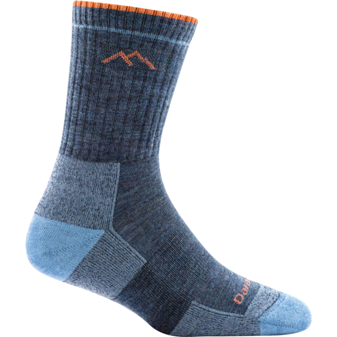 Darn Tough Hiker Micro Crew Cushion Walking Socks Denim Ladies