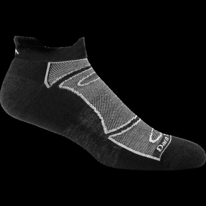 Darn Tough No Show Tab Light Cushion Merino Black Running Socks Unisex
