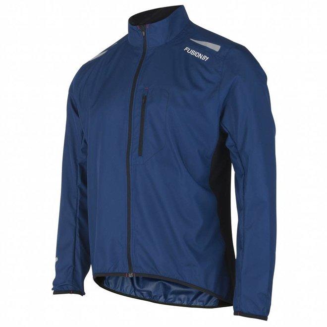 Fusion S1 Run Jacket Men Navy Running jacket Water repellent