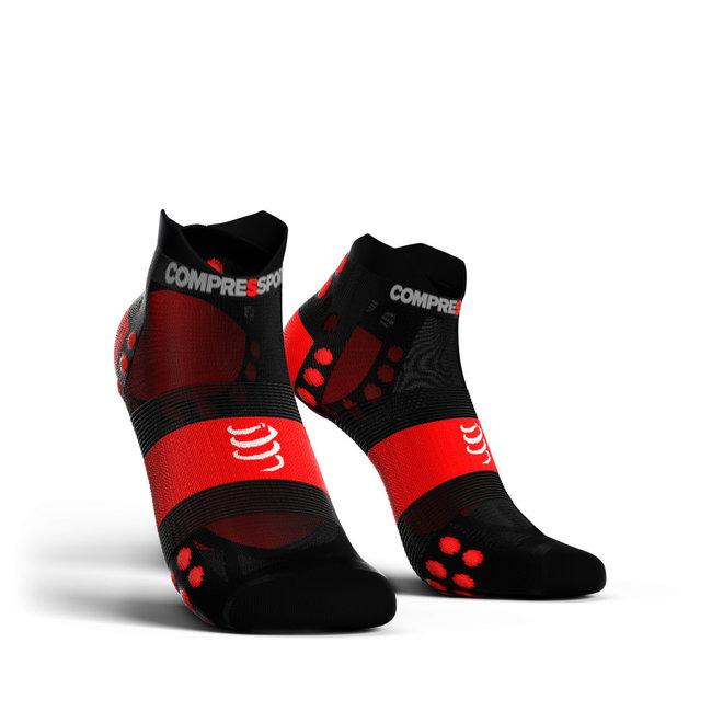 Compressport Pro Racing Socks V3.0 Ultralight Run Low Smart Black Hardloopsokken