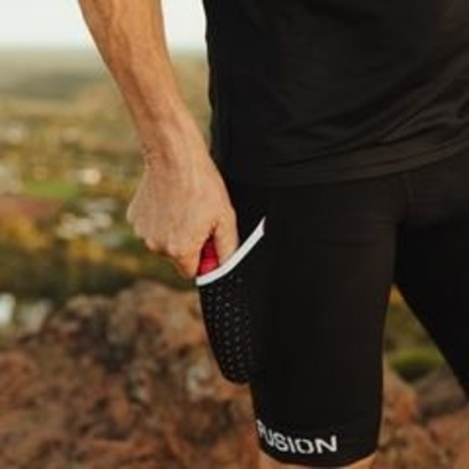 Fusion SLI Run Tight Pocket Black Unisex Water repellent