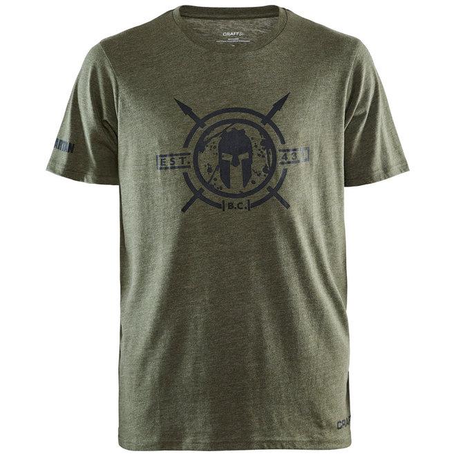 Craft Spartan Shortsleeved Casual Tee Green Men