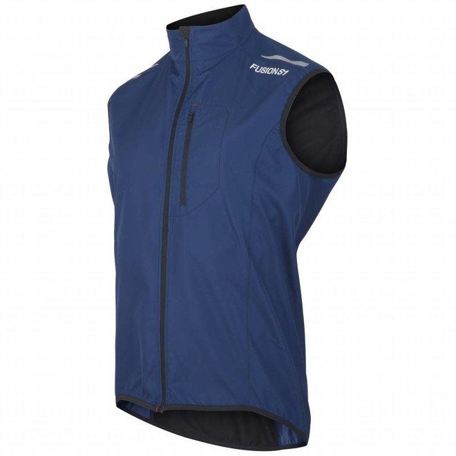 Fusion S1 Run Vest Heren Night Hardloopvest Waterafstotend Blauw