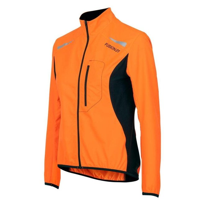 Fusion S1 Run Jacket Ladies Orange Running jacket Water repellent