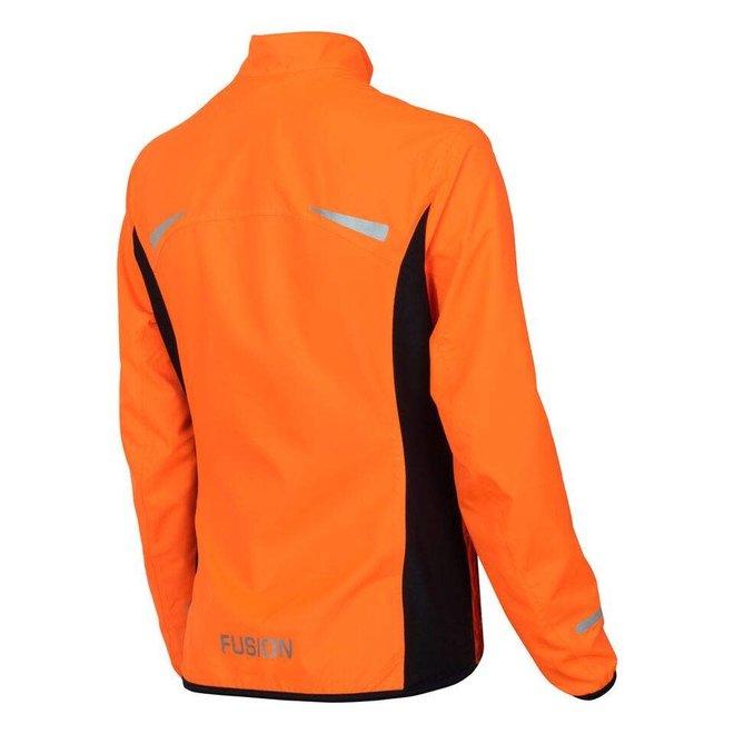 Fusion S1 Run Jack Dames Oranje Hardloopjas Waterafstotend