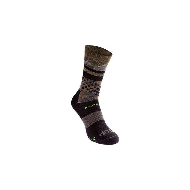 Inov-8 F-Lite Crew Socks Black / Khaki Camo