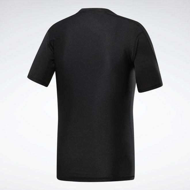 Reebok Compressie T-Shirt Heren Zwart
