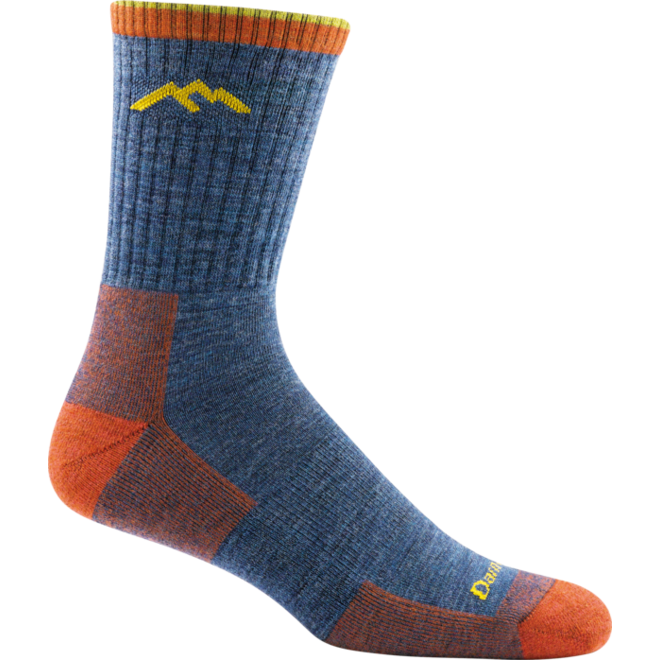 Darn Tough Hiker Micro Crew Cushion Walking Socks Denim