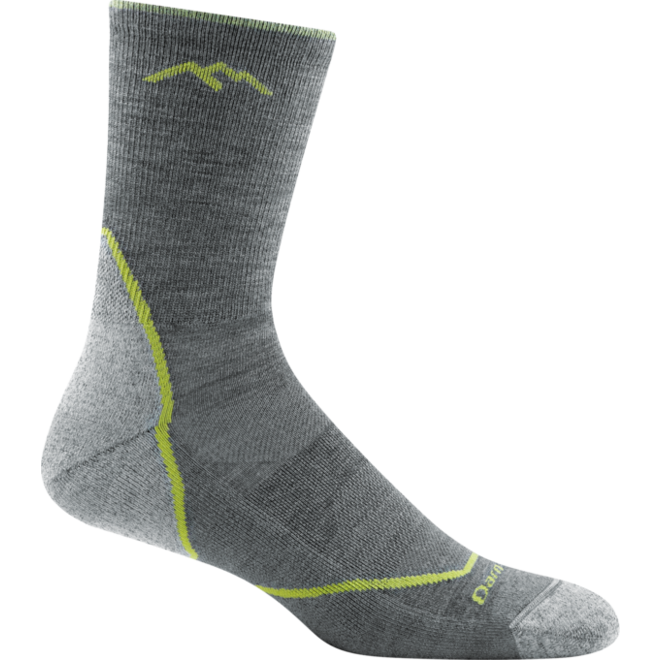 Darn Tough Light Hiker Micro Crew Light Cushion Walking Socks Gray Merino