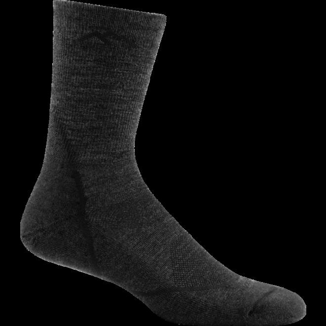 Darn Tough Light Hiker Micro Crew Light Cushion Walking Socks Black Merino