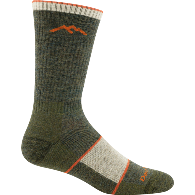 Darn Tough Hiker Sock Full Cushion Walking Socks Olive Green Unisex