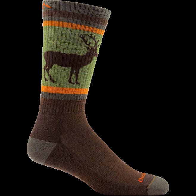 Darn Tough Uncle Buck Boot Cushion Brown Merino Socks