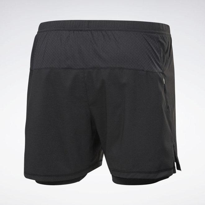Reebok Running Essential Twee-In-Eén Short Heren Zwart