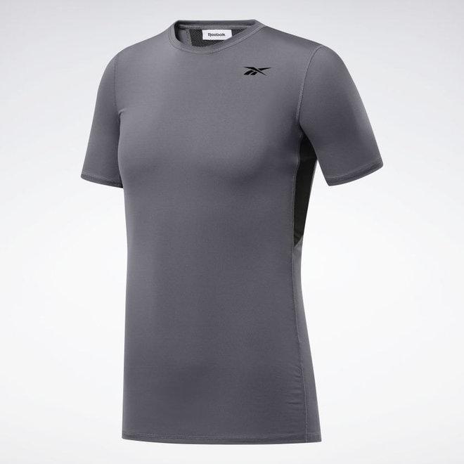 Reebok Workout Ready Compressie T-Shirt Grijs Zwart