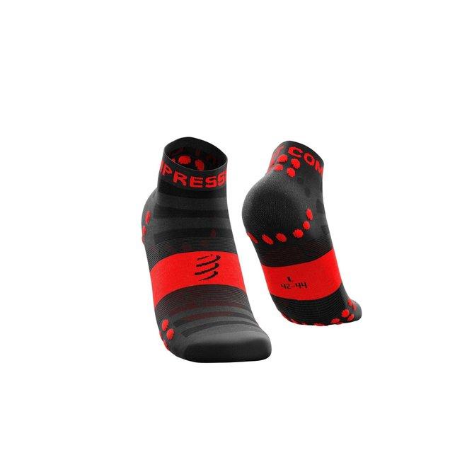 Compressport Pro Racing Socken V3.0 Ultralight Run Low Schwarz-Rot