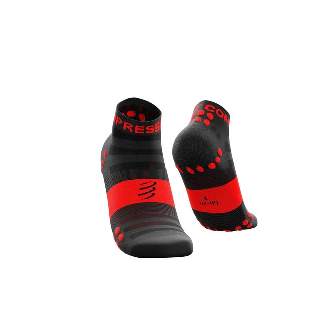 Compressport Pro Racing Socks V3.0 Ultralight Run Low Black-Red