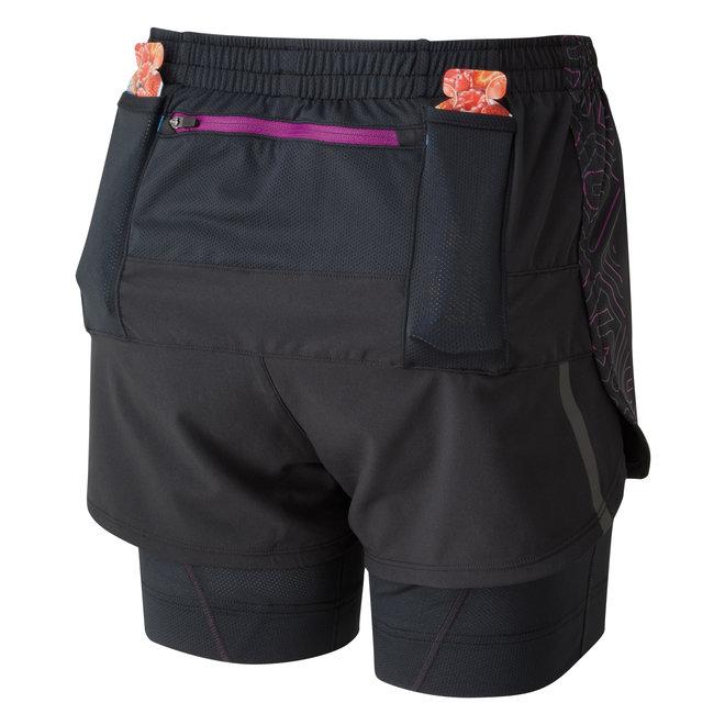 Ronhill Infinity Marathon Twin Short Running Short Ladies Black-Pink