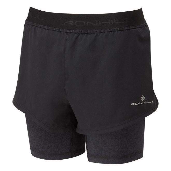 Ronhill Stride Twin Short Running Short Ladies Black