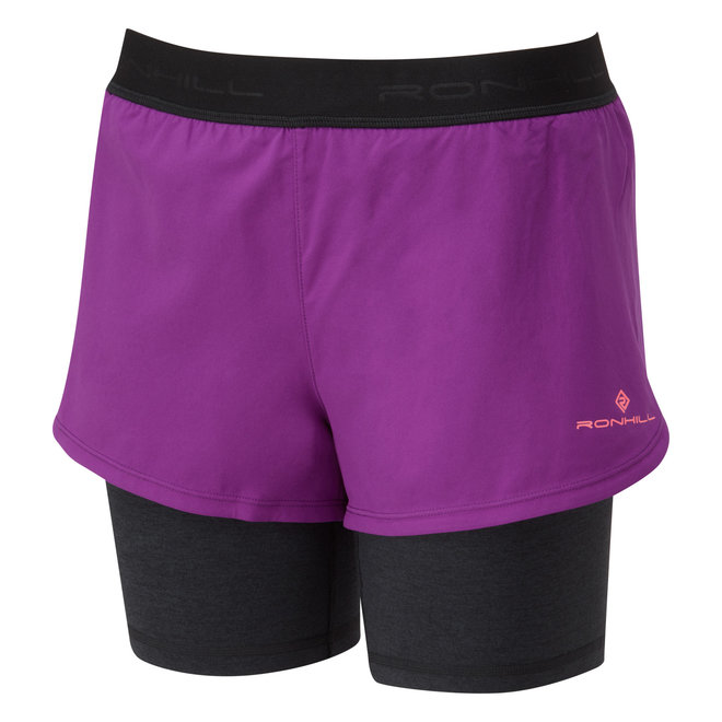 Ronhill Stride Twin Short Running Short Ladies Pink