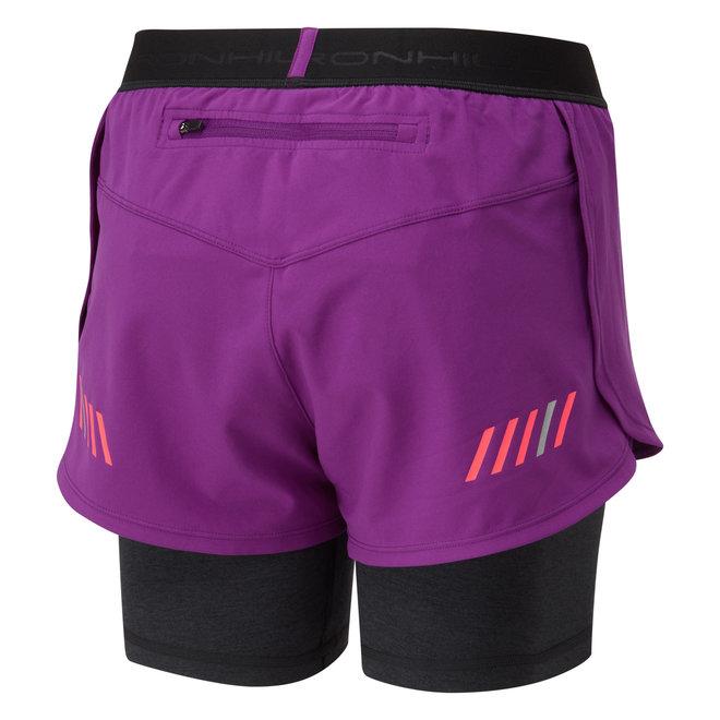 Ronhill Stride Twin Short Running Short Damen Pink