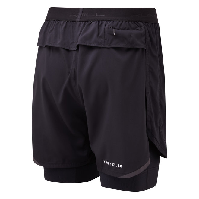 RonHill Stride Revive Twin Short Running Pants Black Men