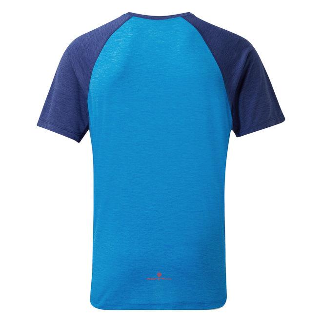 RonHill Momentum SS T-Shirt Blau Herren