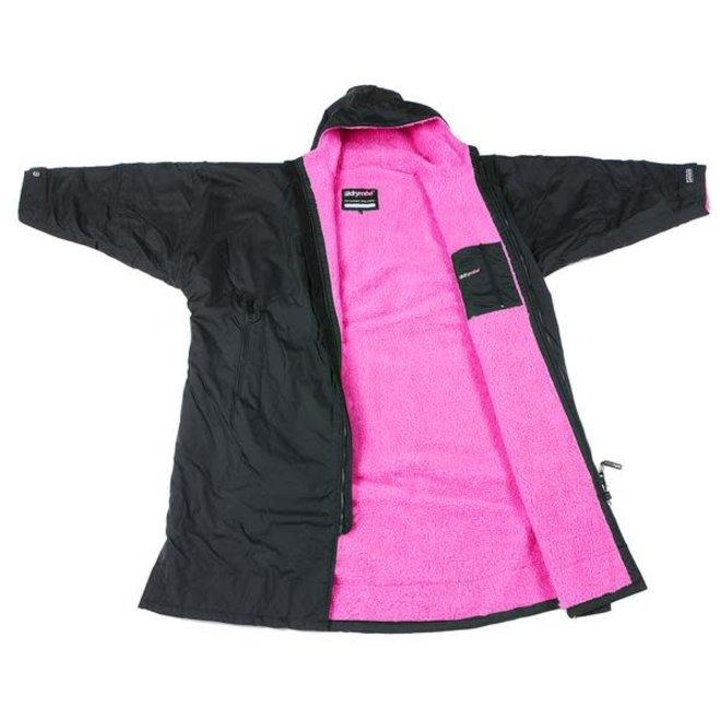 Dryrobe Advance Longsleeve Zwart/Roze