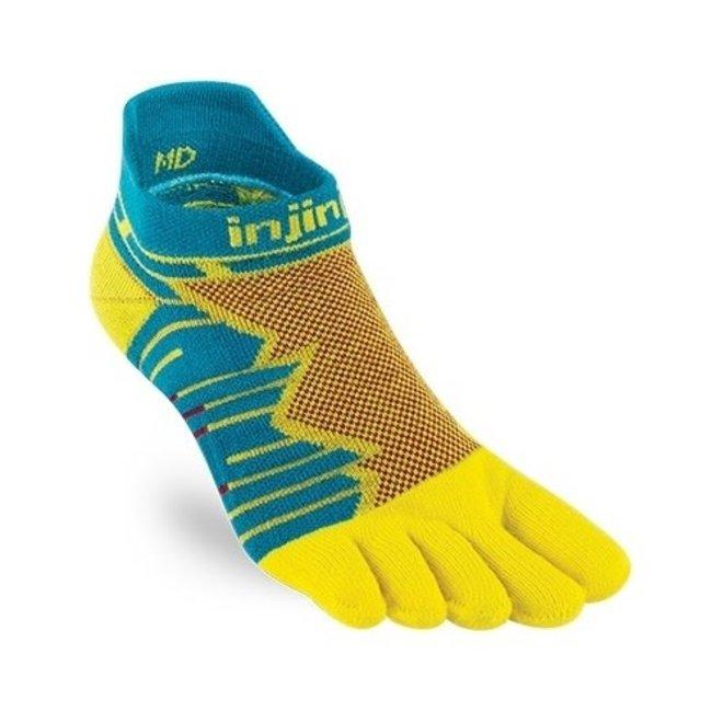 Injinji Ultra Run No Show Toe Socks Solar