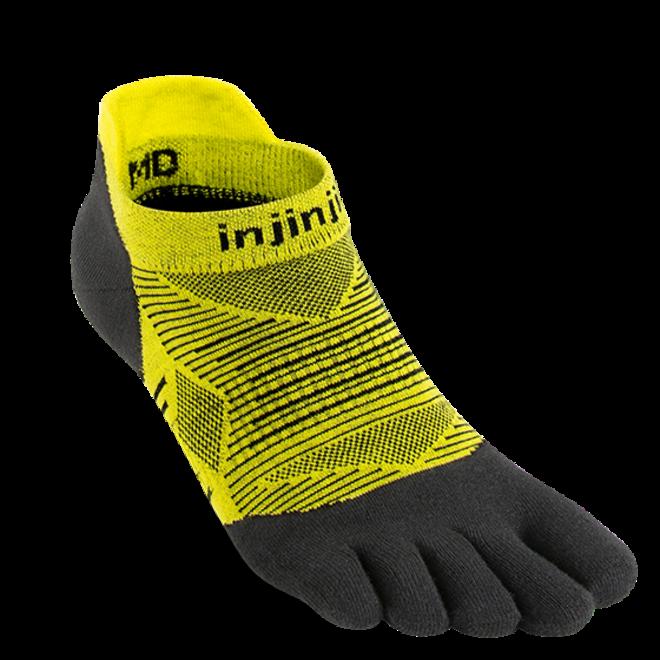 Injinji Run Lightweight No Show Toe Socks Limeade