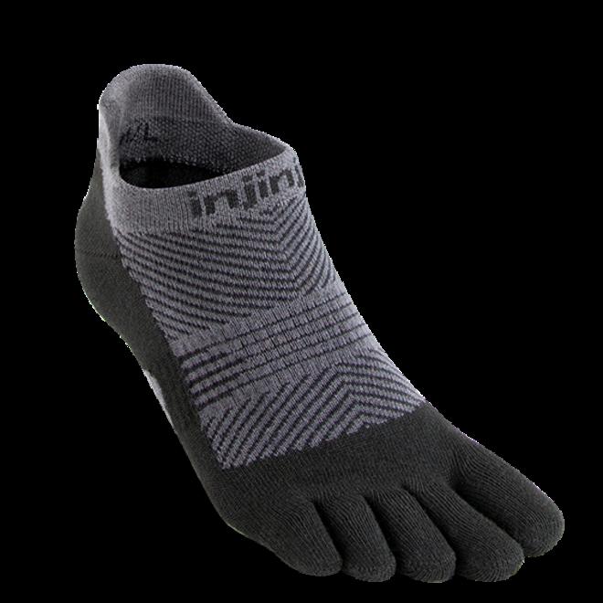 Injinji Run Lightweight No Show Toe Socks Black Ladies