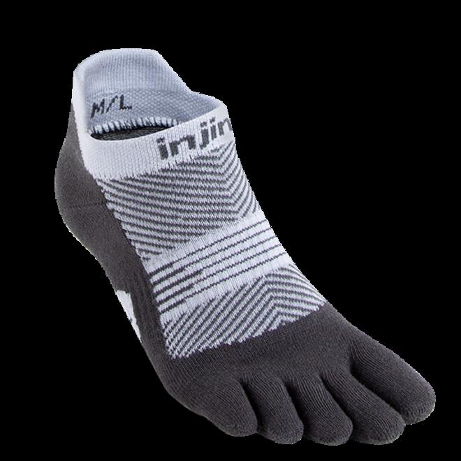 Injinji Run Lightweight No Show Toe Socks Gray Ladies