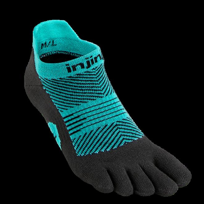 Injinji Run Lightweight No Show Toe Socks Jewel Ladies