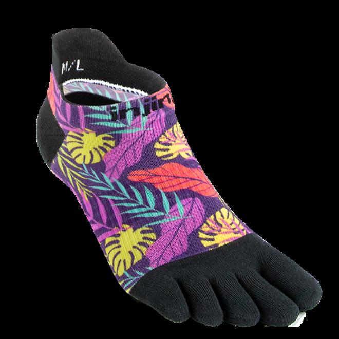 Injinji Run Lightweight No Show Toe Socks Lush Spectrum Ladies