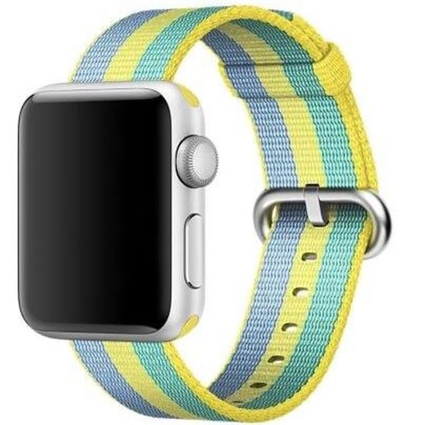 123Watches Apple watch nylon gesp band - pollen
