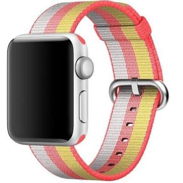 123Watches Apple watch nylon gesp band - rood