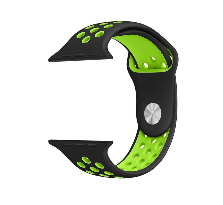 Apple watch doppelt sport bandje - schwarz grün