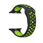 123Watches Apple watch double sport bandje - black green