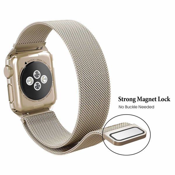 123Watches Apple watch milanese case band - champagne