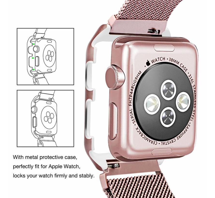 Apple watch milanese case band - rose goud