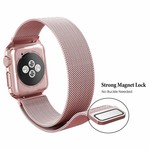 123Watches.nl Apple watch milanese case band - rose goud