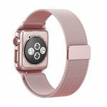 123Watches Apple watch milanese case band - rose goud