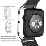 123Watches Apple watch milanese case band - black