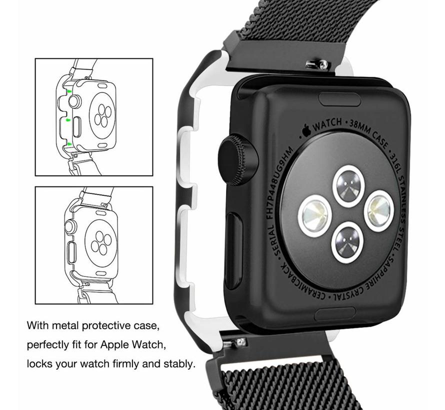 Apple watch milanese case band - black