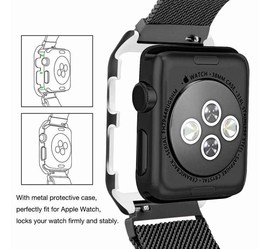 Apple watch milanese case band - zwart